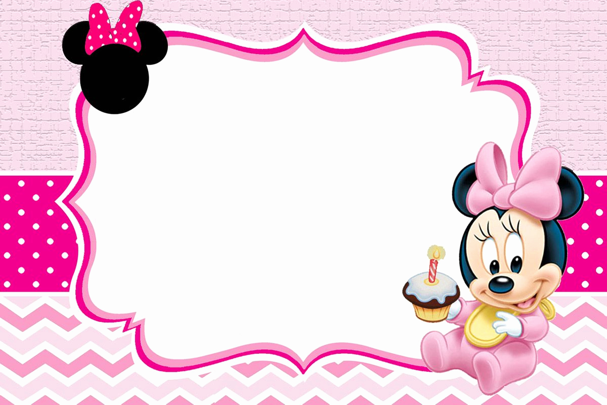 Free Minnie Mouse Invitation Maker New Baby Minnie Mouse Invitation Template