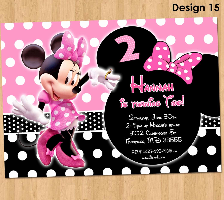 Free Minnie Mouse Invitation Maker Unique Minnie Mouse Invitation Minnie Mouse Birthday Invitation