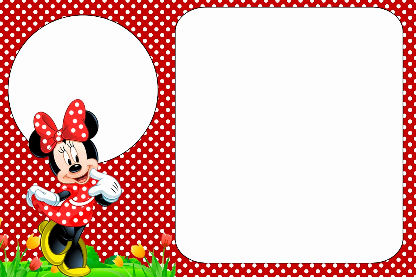 Free Minnie Mouse Invitation Template Awesome Minnie In Red Free Printables and Party Invitations