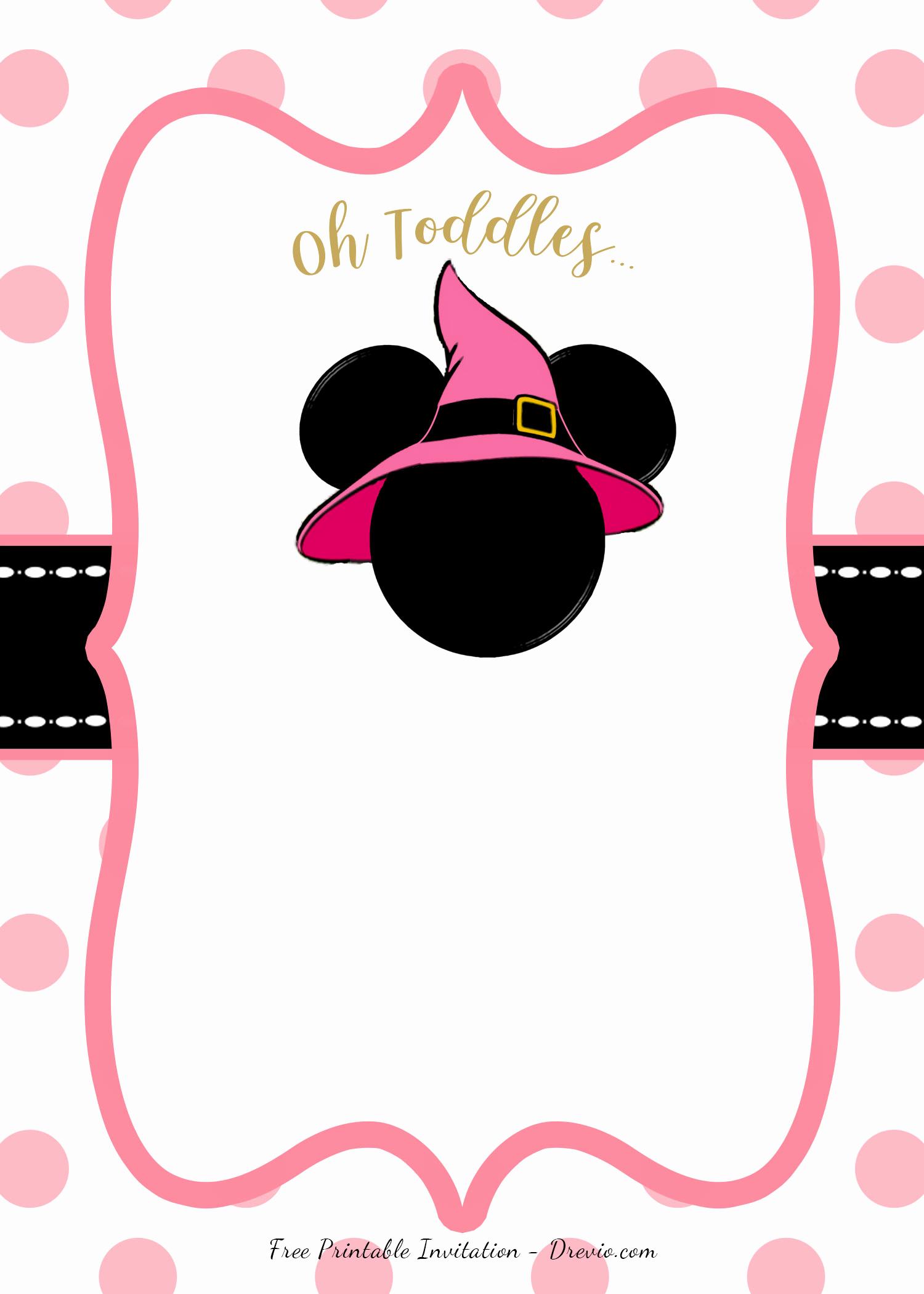 Free Minnie Mouse Invitation Template Beautiful Free Minnie Mouse Head Invitation Templates – Free
