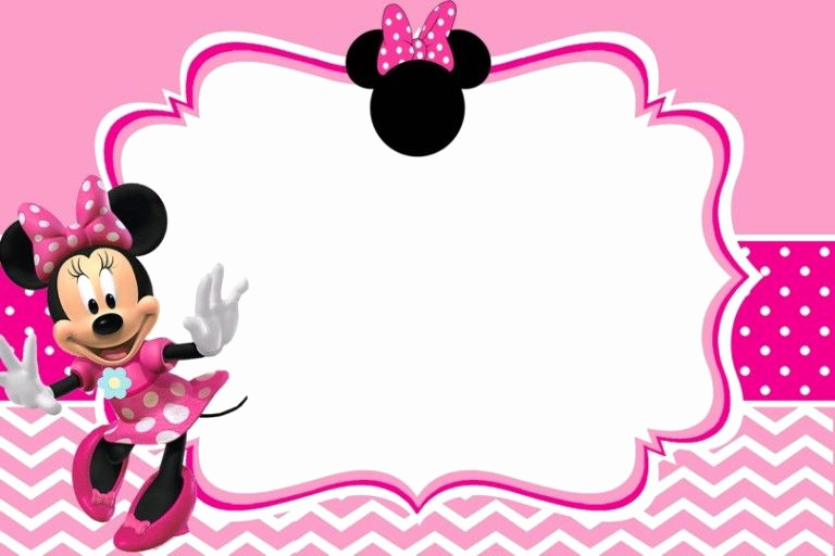 Free Minnie Mouse Invitation Template Elegant Minnie Mouse Birthday Party Invitation Template Free