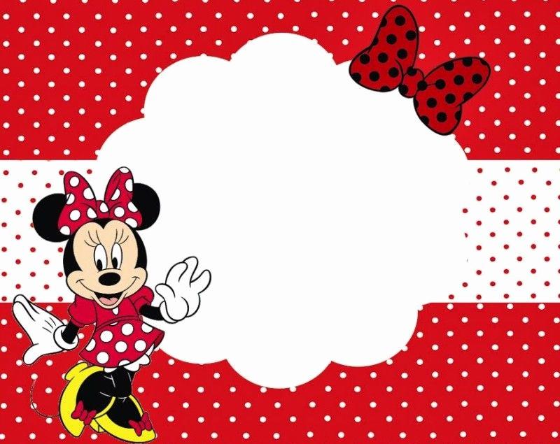 Free Minnie Mouse Invitation Template Fresh Minnie Mouse Printable Party Invitation Template for Girls