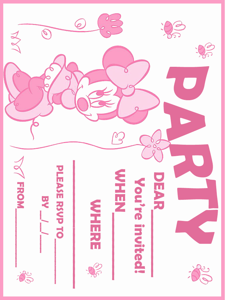 Free Minnie Mouse Invitation Template Luxury Printable Minnie Mouse Birthday Invitations – Free