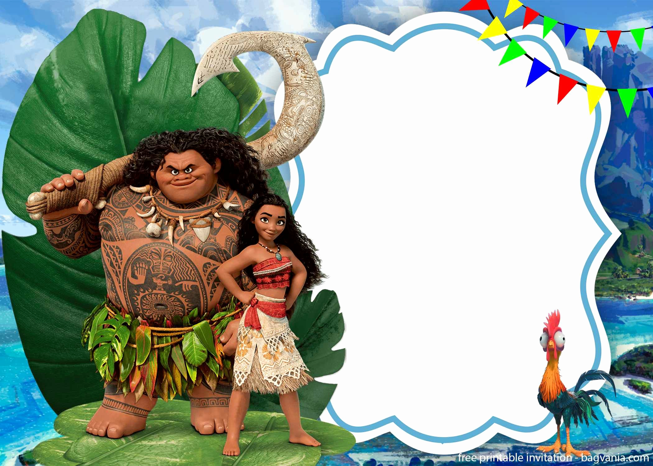 Free Moana Invitation Template Awesome Free Printable Moana Birthday Invitation Template