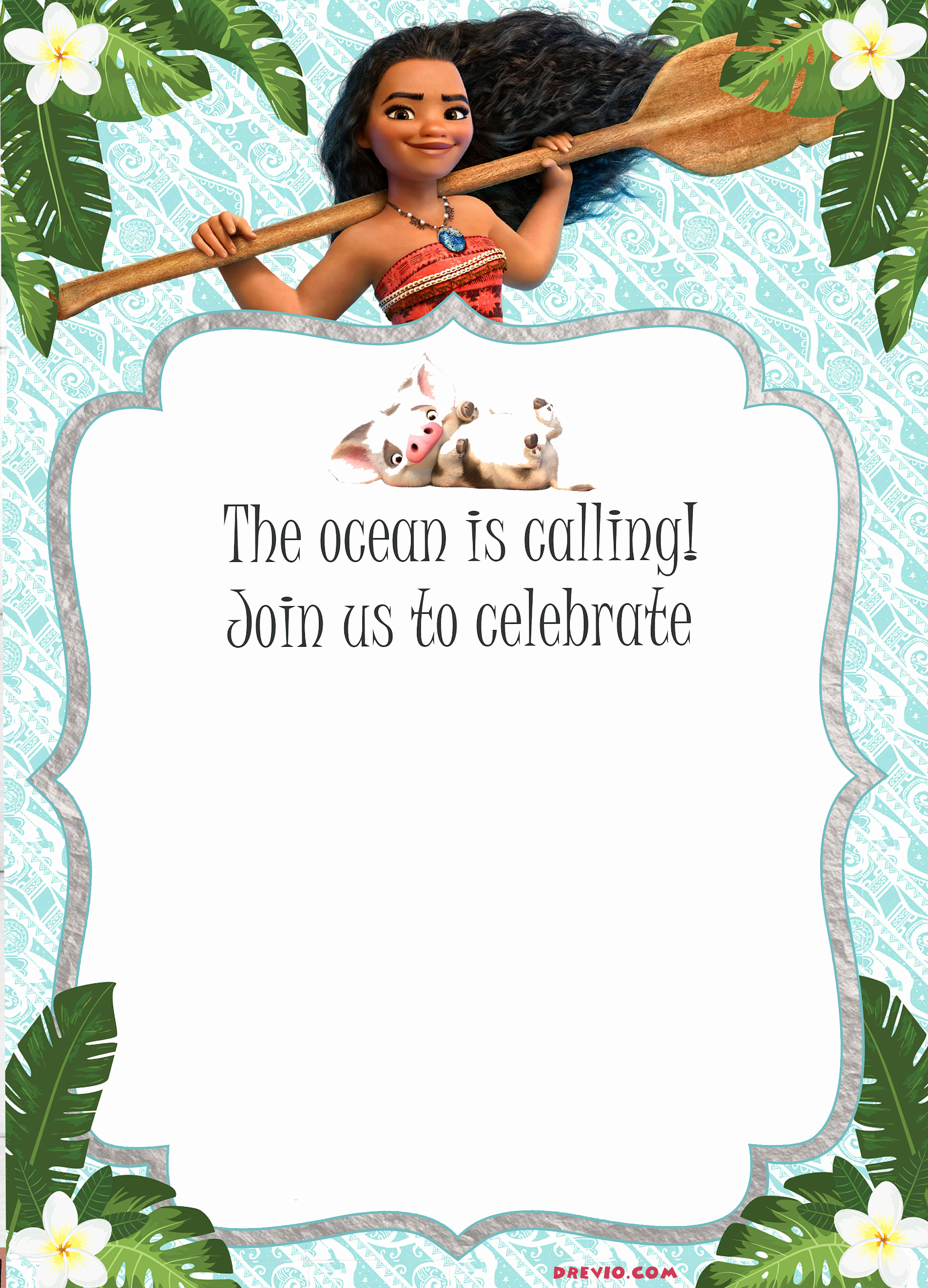 Free Moana Invitation Template Beautiful Free Moana Birthday Invitation Template Free Invitation