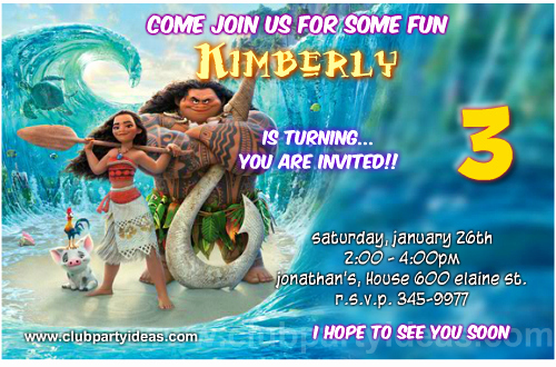 Free Moana Invitation Template Beautiful Moana Birthday Invitations Free Printable【2017】