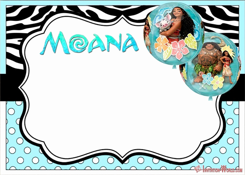 Free Moana Invitation Template Best Of 7 Moana Invitation Templates – Free and Printable