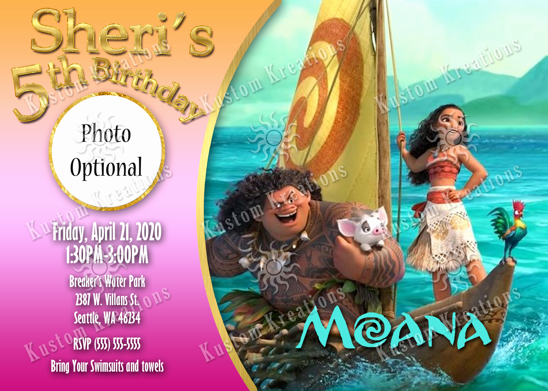 Free Moana Invitation Template Best Of Moana Birthday Invitations