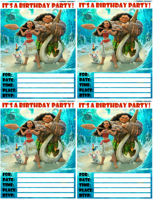 Free Moana Invitation Template Best Of Moana Invitations Free Printables for A Princess