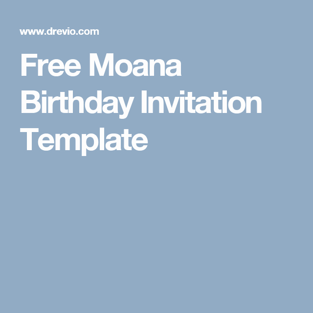 Free Moana Invitation Template Elegant Free Moana Birthday Invitation Template