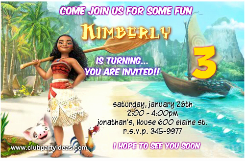 Free Moana Invitation Template Fresh Moana Birthday Invitations Free Printable【2017】
