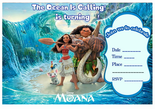Free Moana Invitation Template Fresh Moana Birthday Invitations