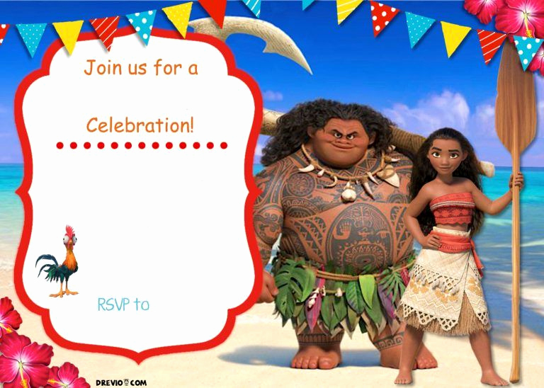 Free Moana Invitation Template Inspirational Free Moana Birthday Invitation Template