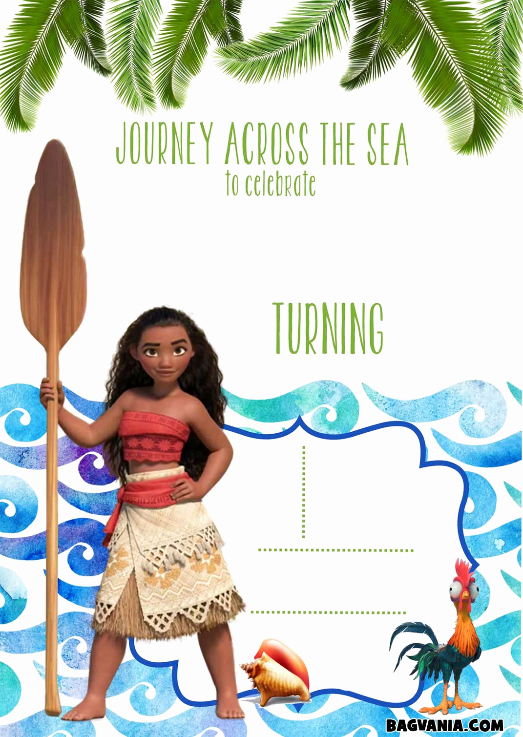 Free Moana Invitation Template Inspirational Free Printable Moana Birthday Invitation Templates – Free