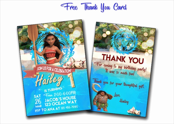 Free Moana Invitation Template Lovely 26 Printable Birthday Cards Free Psd Ai Vector Eps