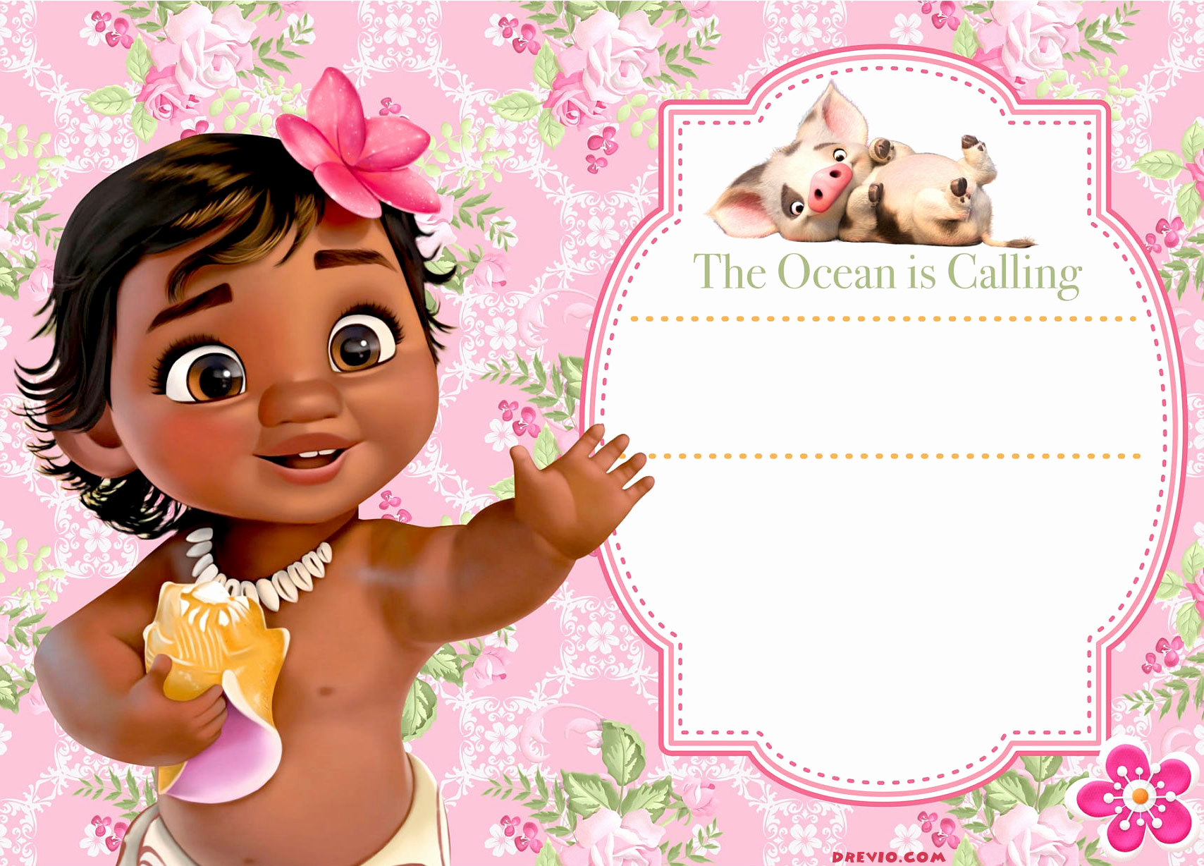 Free Moana Invitation Template Lovely Free Moana Birthday Invitation Template Free Invitation