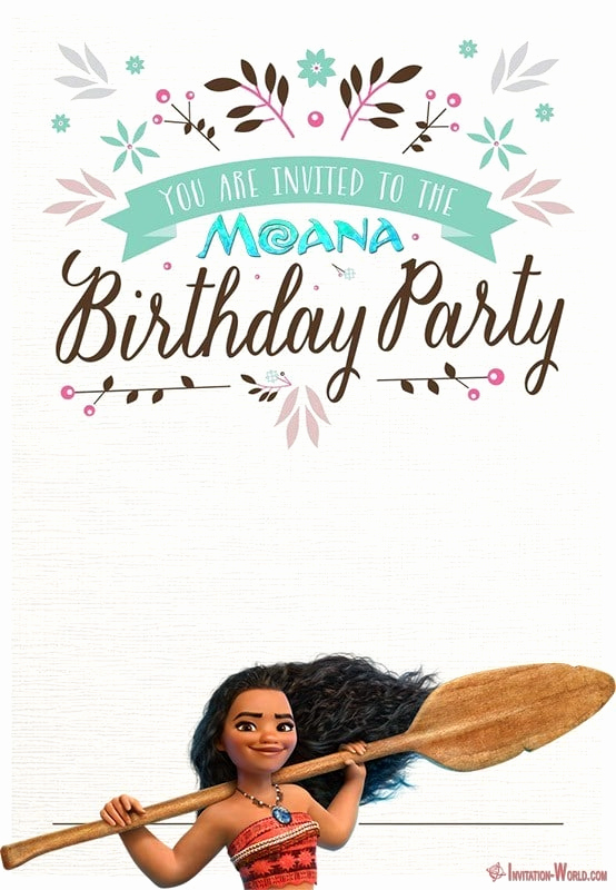 Free Moana Invitation Template Luxury 7 Moana Invitation Templates – Free and Printable