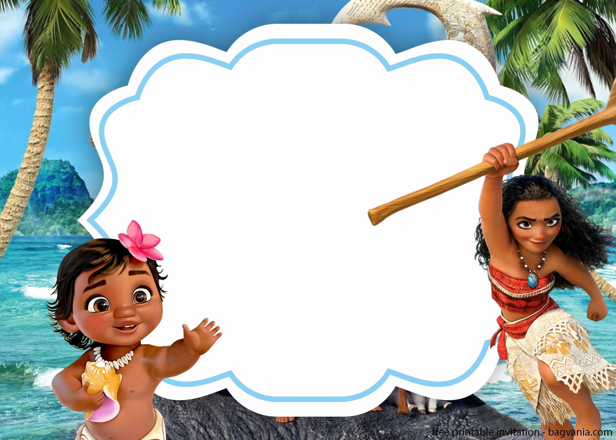 Free Moana Invitation Template Luxury Free Moana with Invitation Template for Kids Beach
