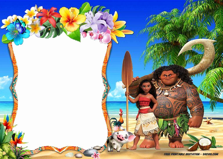 Free Moana Invitation Template Unique Free Printable Moana Invitation