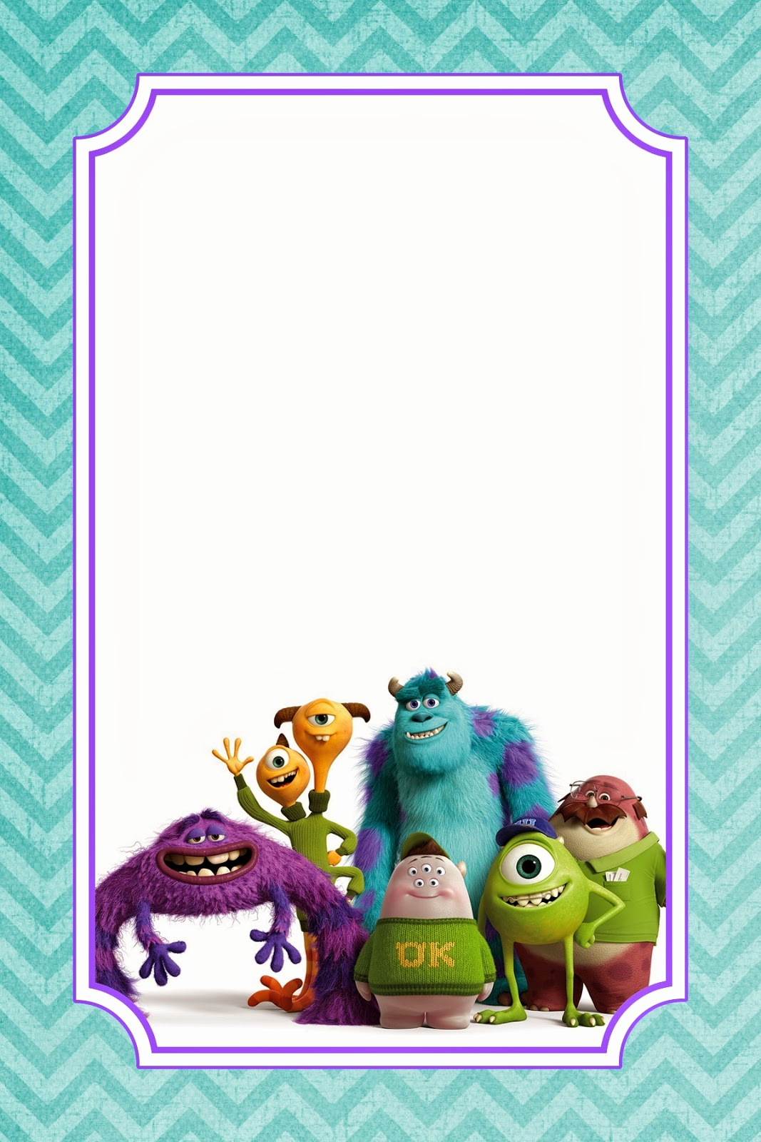 Free Monsters Inc Invitation Template Beautiful Appetizer for A Crafty Mind Free Monsters University Food