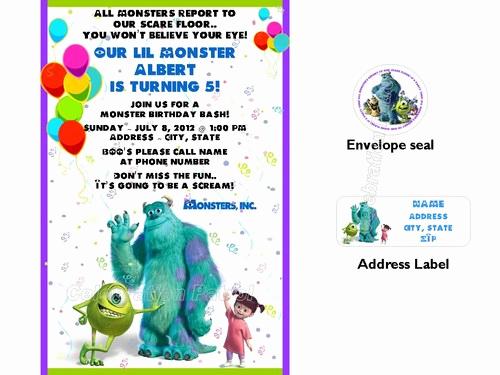 Free Monsters Inc Invitation Template Best Of Monsters Inc Birthday Invitations Ideas – Bagvania Free