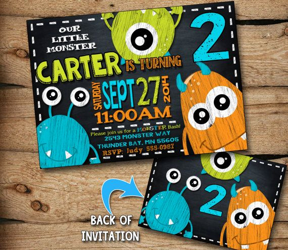 Free Monsters Inc Invitation Template Fresh 25 Best Ideas About Monster Party Invites On Pinterest