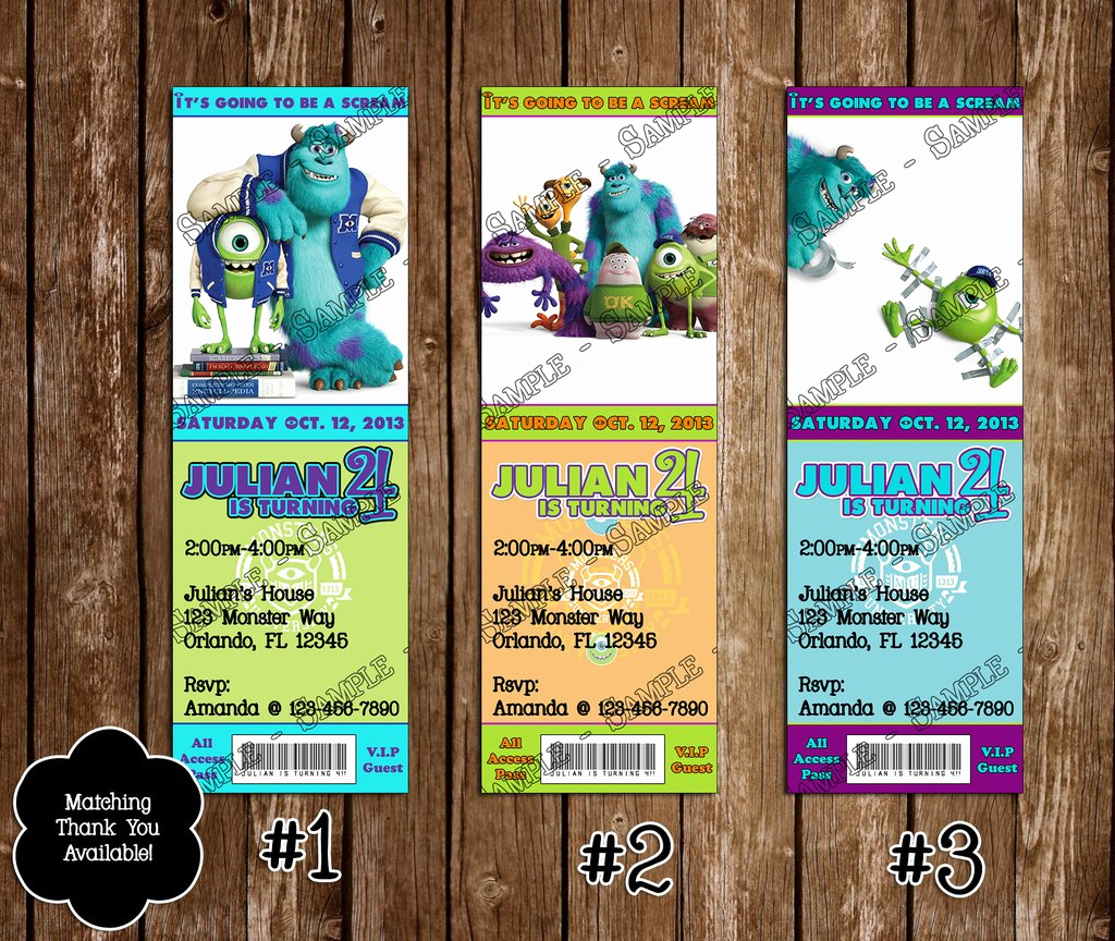 Free Monsters Inc Invitation Template Fresh Novel Concept Designs Monsters Inc University Birthday