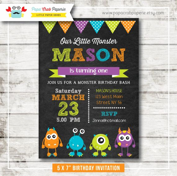 Free Monsters Inc Invitation Template New Best 25 Monster Invitations Ideas On Pinterest