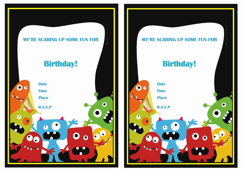 Free Monsters Inc Invitation Template New Monsters University Birthday Invitations
