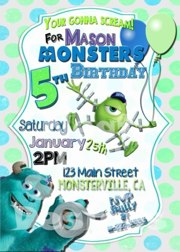 Free Monsters Inc Invitation Template Unique 1000 Ideas About Monsters University Invitations On