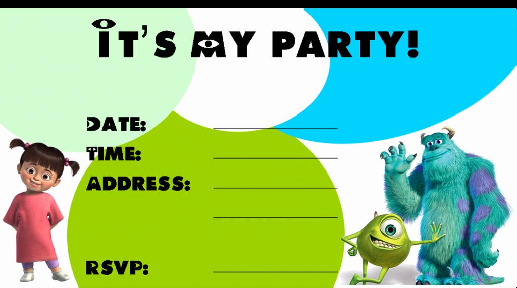 Free Monsters Inc Invitation Template Unique Monster Birthday Invitations Ideas – Bagvania Free