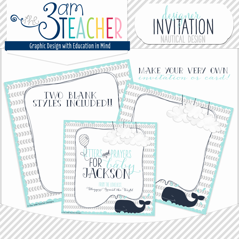 Free Nautical Invitation Templates Beautiful Free Nautical themed Invitation Template by the 3am