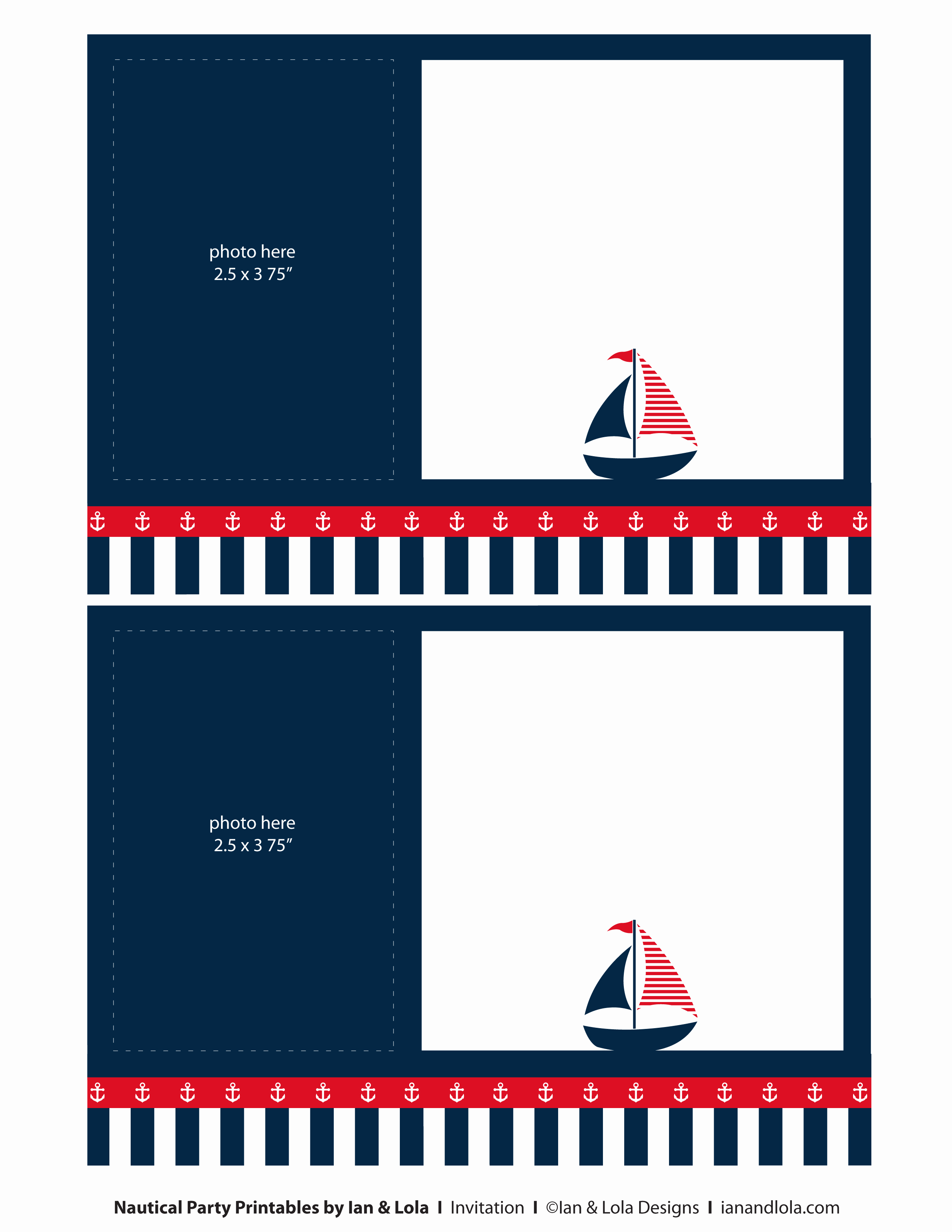 Free Nautical Invitation Templates Best Of Free Nautical Party Printables From Ian & Lola Designs