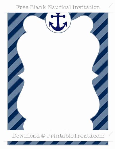 Free Nautical Invitation Templates Best Of Free Navy Blue Diagonal Striped Blank Nautical Invitation