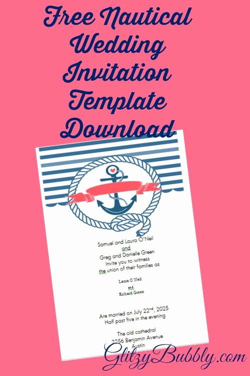 Free Nautical Invitation Templates Fresh Free Printable Nautical Wedding Invitations