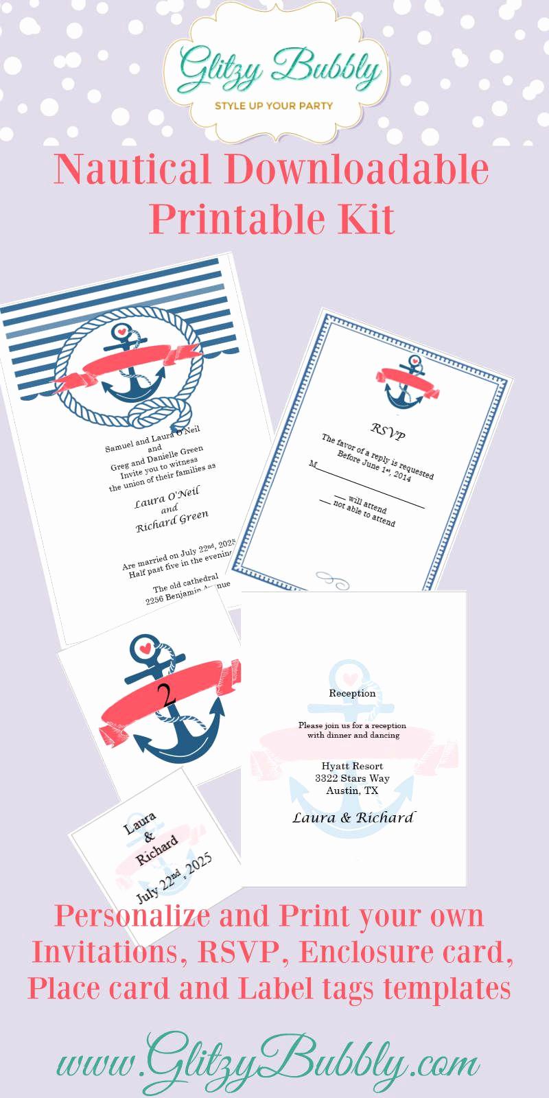 Free Nautical Invitation Templates Inspirational Download Your Free Nautical Wedding Invitation Template at