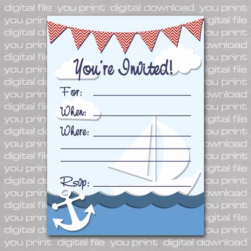 Free Nautical Invitation Templates Lovely Nautical Birthday Invitations Ideas – Bagvania Free