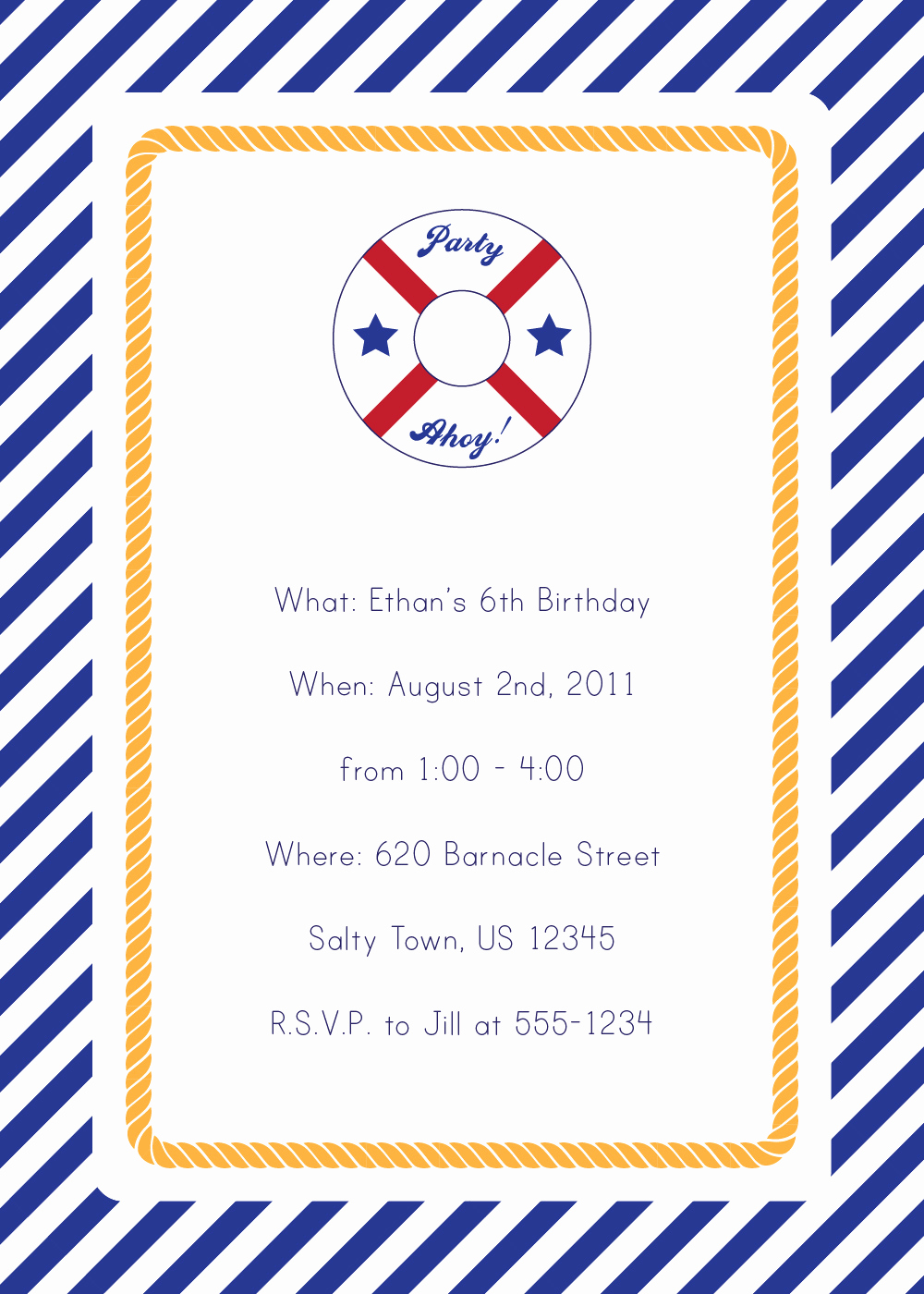 Free Nautical Invitation Templates Lovely Party Packs Emmy Gabbie Paperstyles