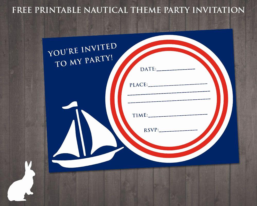 Free Nautical Invitation Templates Luxury Free Nautical Party theme Invitation