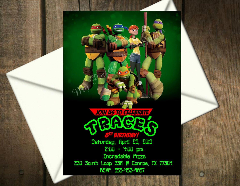 Free Ninja Turtle Invitation Templates Awesome Printable Teenage Mutant Ninja Turtles Birthday