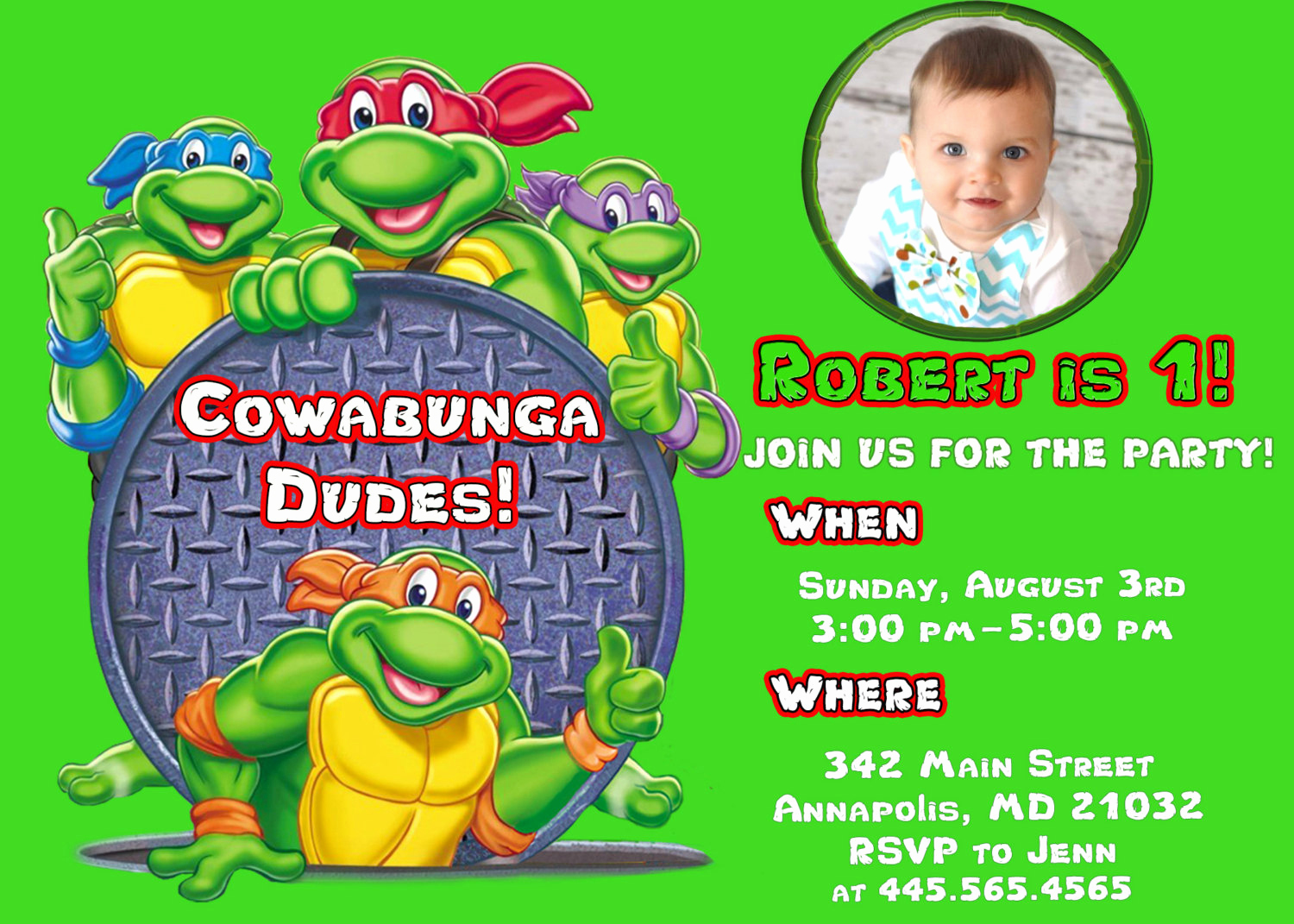 Free Ninja Turtle Invitation Templates Lovely Free Printable Ninja Turtle Birthday Party Invitations