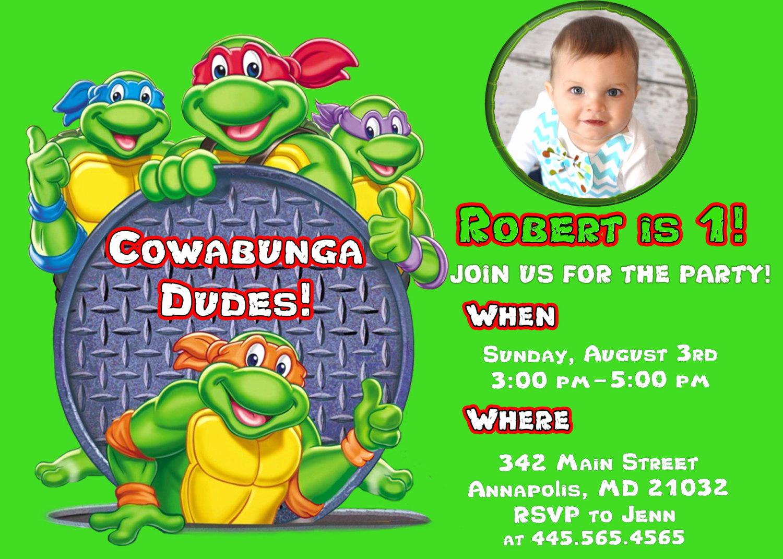Free Ninja Turtle Invitation Templates Lovely Free Printable Ninja Turtle Birthday Party Invitations