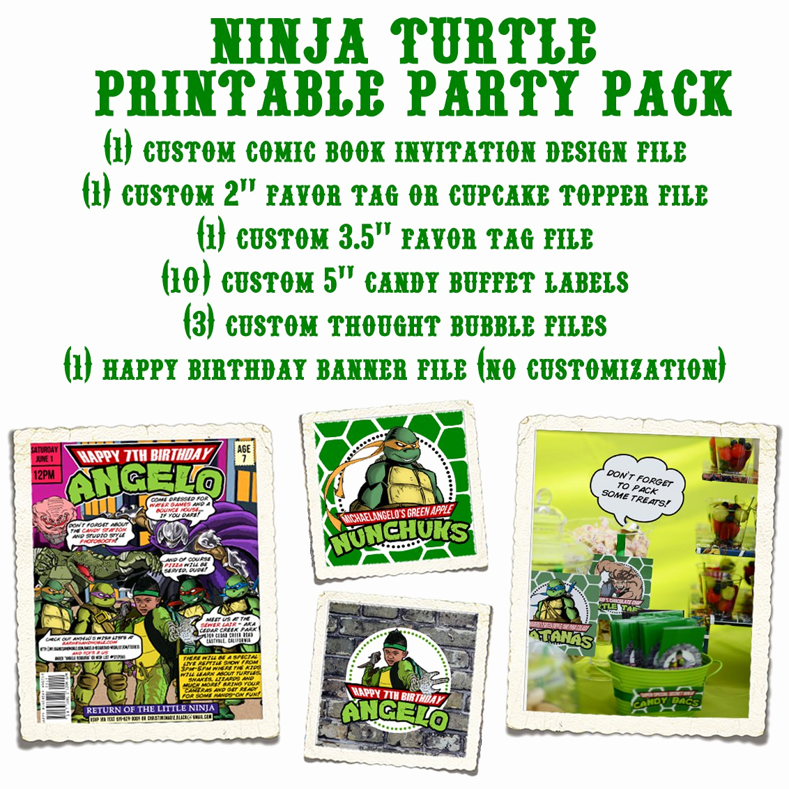 Free Ninja Turtle Invitation Templates Luxury Printable Teenage Mutant Ninja Turtles Birthday