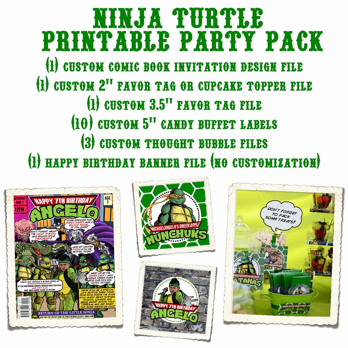Free Ninja Turtle Invitation Templates Luxury Printable Teenage Mutant Ninja Turtles Birthday