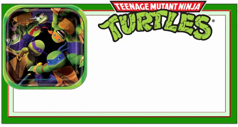 Free Ninja Turtle Invitation Templates Luxury Teenage Mutant Ninja Turtles Another Great Idea for A