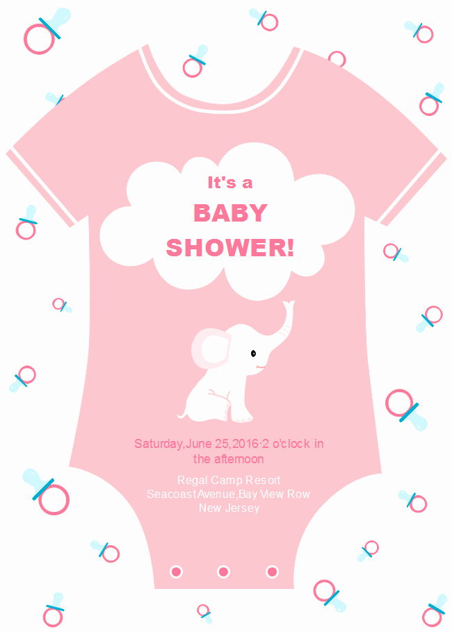 Free Onesie Invitation Template Beautiful Esie Baby Shower Invitation