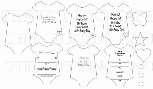 Free Onesie Invitation Template Best Of Onesie Shaped Card Template Cutting File