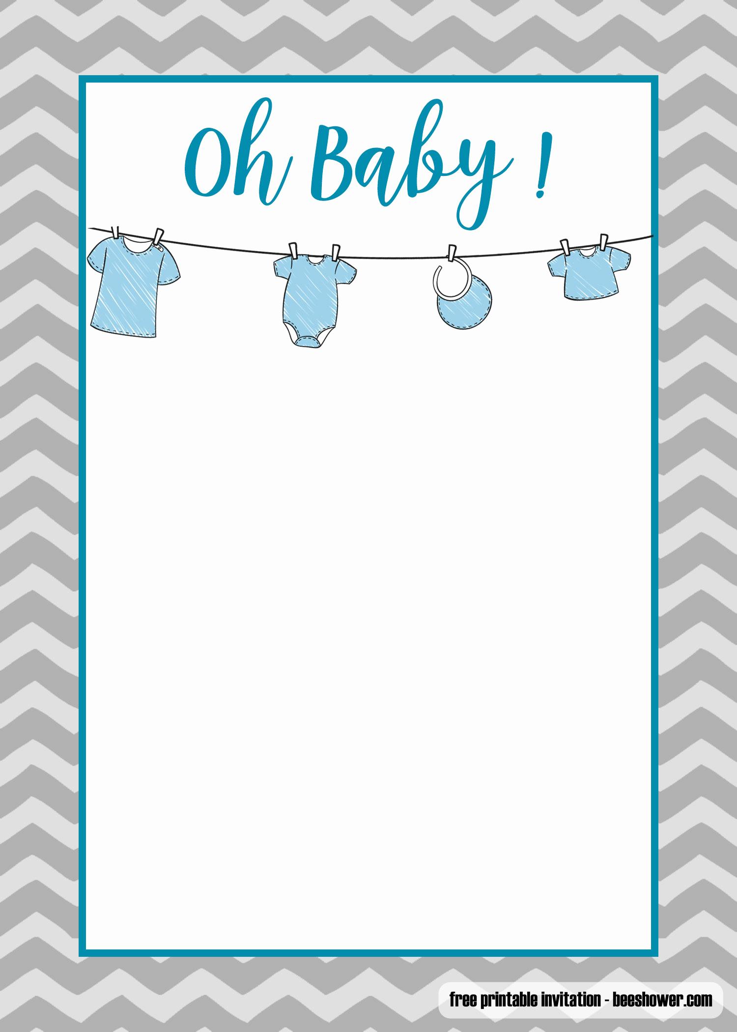 Free Onesie Invitation Template Luxury Free Printable Esie Baby Shower Invitations Templates
