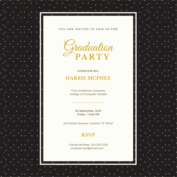 Free Online Graduation Invitation Templates Lovely 42 Sample Graduation Invitation Designs & Templates Psd