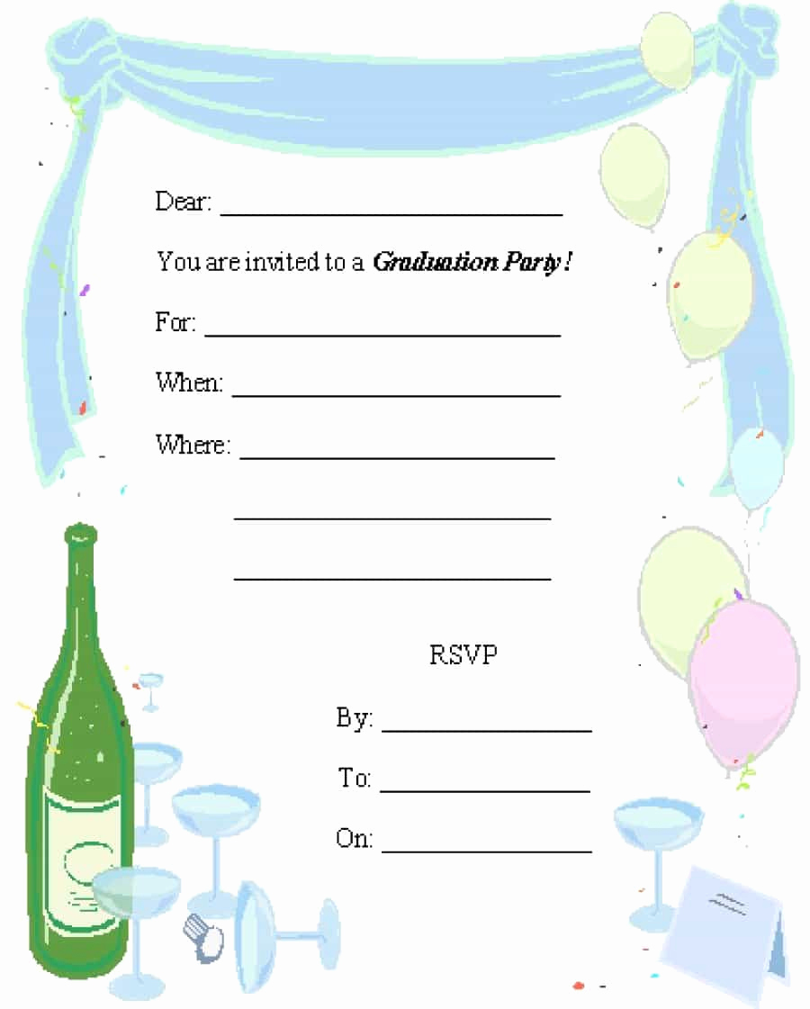 Free Online Graduation Invitation Templates Unique 40 Free Graduation Invitation Templates Template Lab